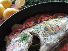 grilled red sea bream