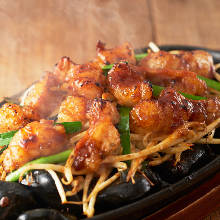 Horumon yaki (grilled organ meat)