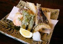 Anago (conger eel) and vegetable tempura