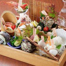 Assorted sashimi, 9 kinds