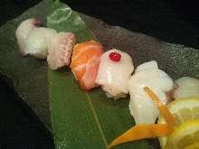 Assorted nigiri sushi, 5 kinds
