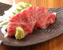Seared sashimi