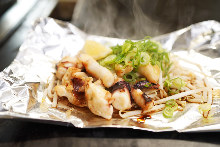 Grilled squid tentacles