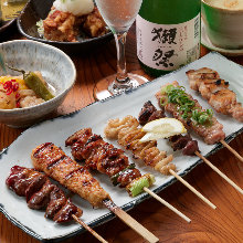 Assorted grilled chicken skewers, 7 kinds