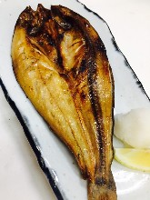 Salted and grilled Atka mackerel