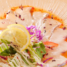 Assorted fresh fish Carpaccio of the day, 3 kinds