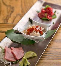 Assorted beef sashimi