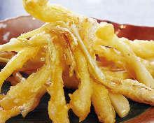 Okinawan rakkyo tempura