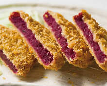 Purple sweet potato croquette