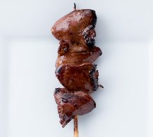 Grilled heart skewer
