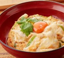"""Oyako"" chicken and egg rice bowl"