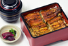 Unaju (grilled eel and rice in lacquered box)  (eel - 4 slices)