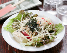 Tofu salad with sesame sauce