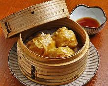 Pork and tofu shaomai dumplings