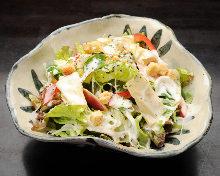 Caesar salad with yamato-mana