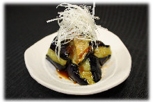Fried eggplant with Chinese chili bean sauce