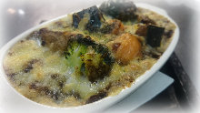 Baked cheese and vegetable curry
