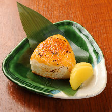 Grilled miso rice ball