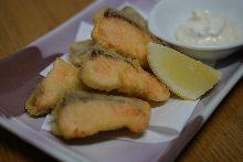 Salmon tempura