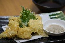 Tofu skin tempura