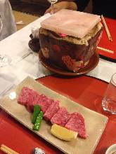 Salt grilled beef
