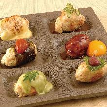Assorted meatballs