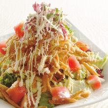 Deep-fried burdock salad with sesame dressing