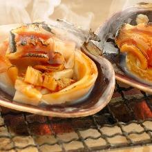 Grilled jumbo asari clams