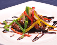 Sweet and sour pork with black vinegar