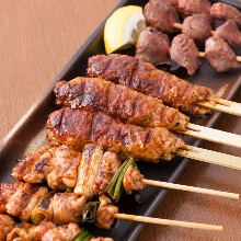 Assorted grilled chicken skewers, 5 kinds