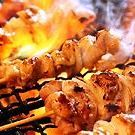 Assorted grilled chicken skewers, 3 kinds
