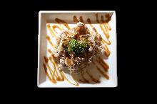 Pork and Japanese leek shabu-shabu