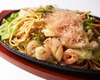 Seafood yakisoba, seasoned with salt