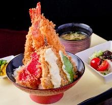 Shrimp cutlet set meal