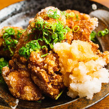 Fried chicken with grated daikon and ponzu