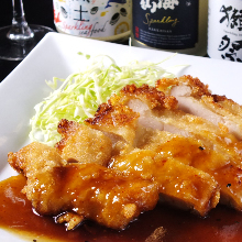 Fried chicken with special sauce