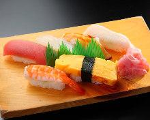 Assorted nigiri sushi, 6 kinds