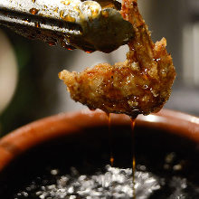 Sweet and spicy fried chicken wing tips