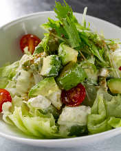 Avocado and tofu salad