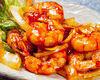 Stir-fried shrimp in chili sauce