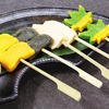 Broiled Wheat Starch & Seasonal Vegetable Dengaku (coated with miso)