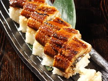 Eel rod-shaped sushi