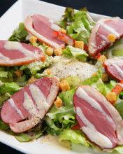 Duck loin caesar salad
