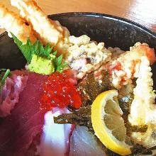 Seafood tempura rice bowl