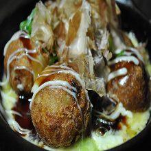 Cheese takoyaki (octopus balls)