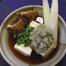 Eel and shaved kelp tofu