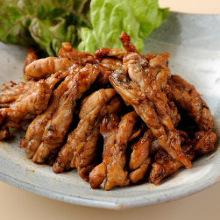Cooked Jidori chicken neck