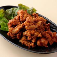 Juicy fried chicken neck