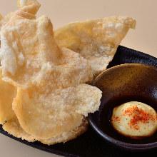 Chicken senbei (rice cracker)