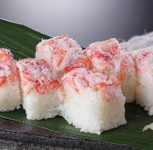 Rod-shaped sushi